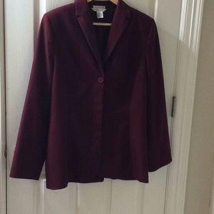 Preston & York Maroon Women's Blazer - Size 12